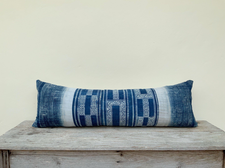 Indigo Stripe Textured Designer Pillows  Blue Throw Pillows  Modern Farmhouse Pillows  Decorative Pillows  Nautical Pillows