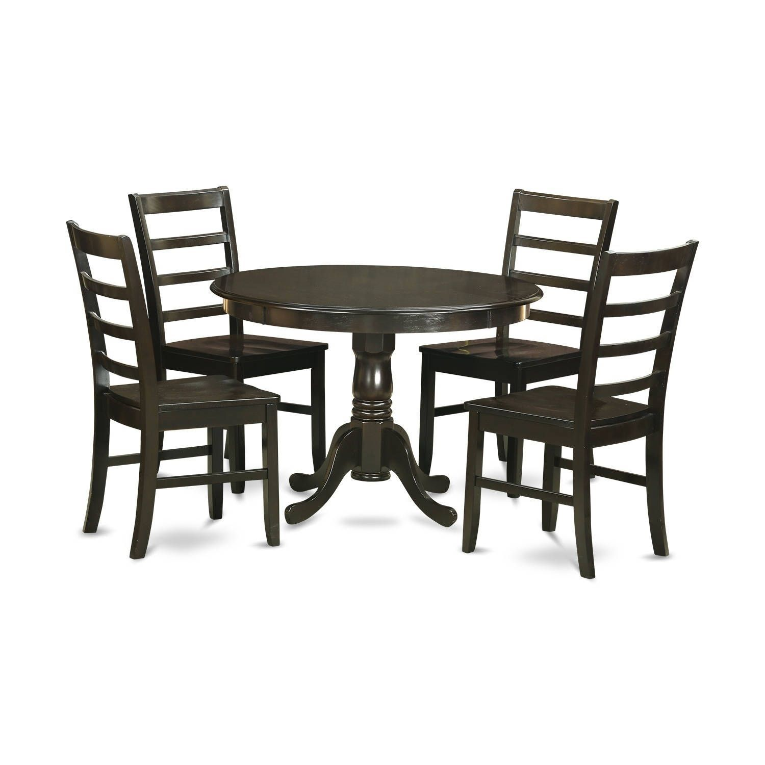 HLPF5-CAP 5 PC small Kitchen Table set-Dining Table and 4 Chairs ...
