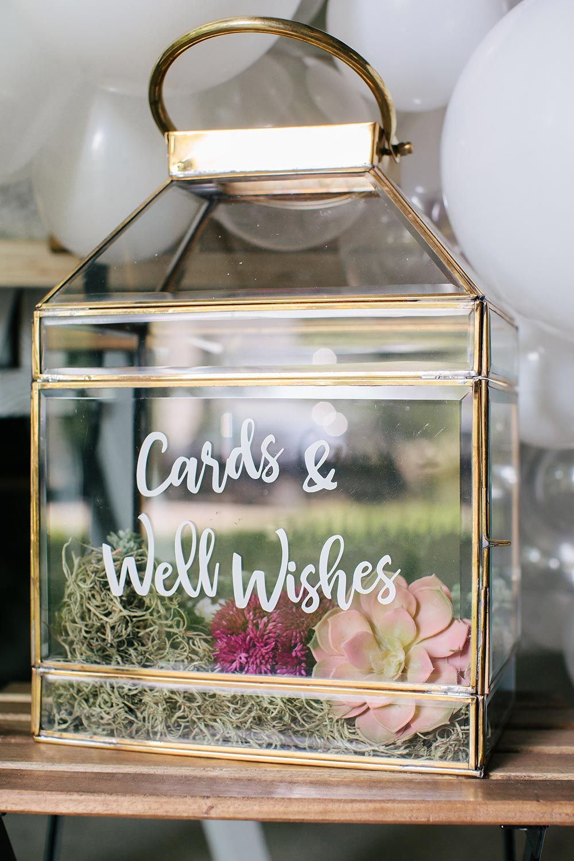 Make a conversation piece with this modern terrarium card box in