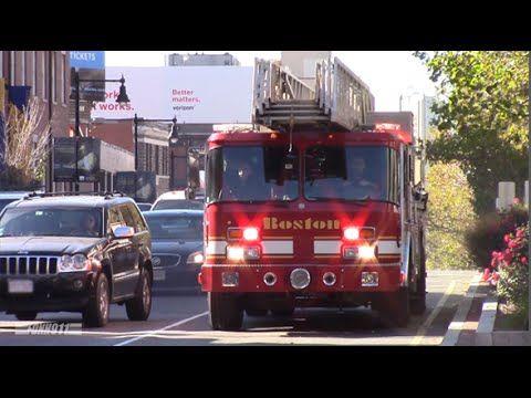 Boston Fire Ladder 14 Responding - YouTube