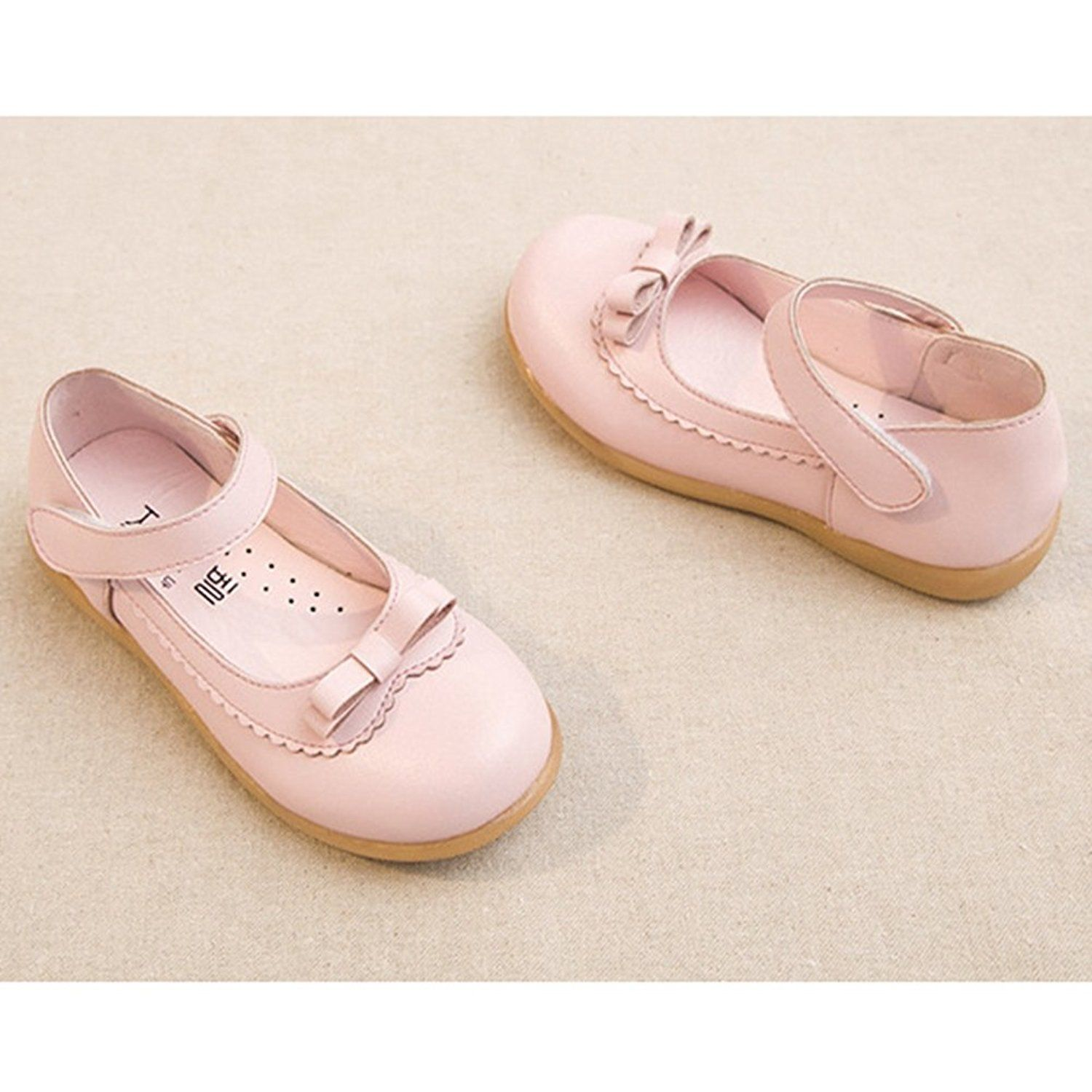 d0fef6663 Amazon.com | T-JULY Girls Bowknot Ballet Flats Shoes Anti-Slip Mary Jane  Dress Shoes (Toddler/Little Kid/Big Kid) | Flats