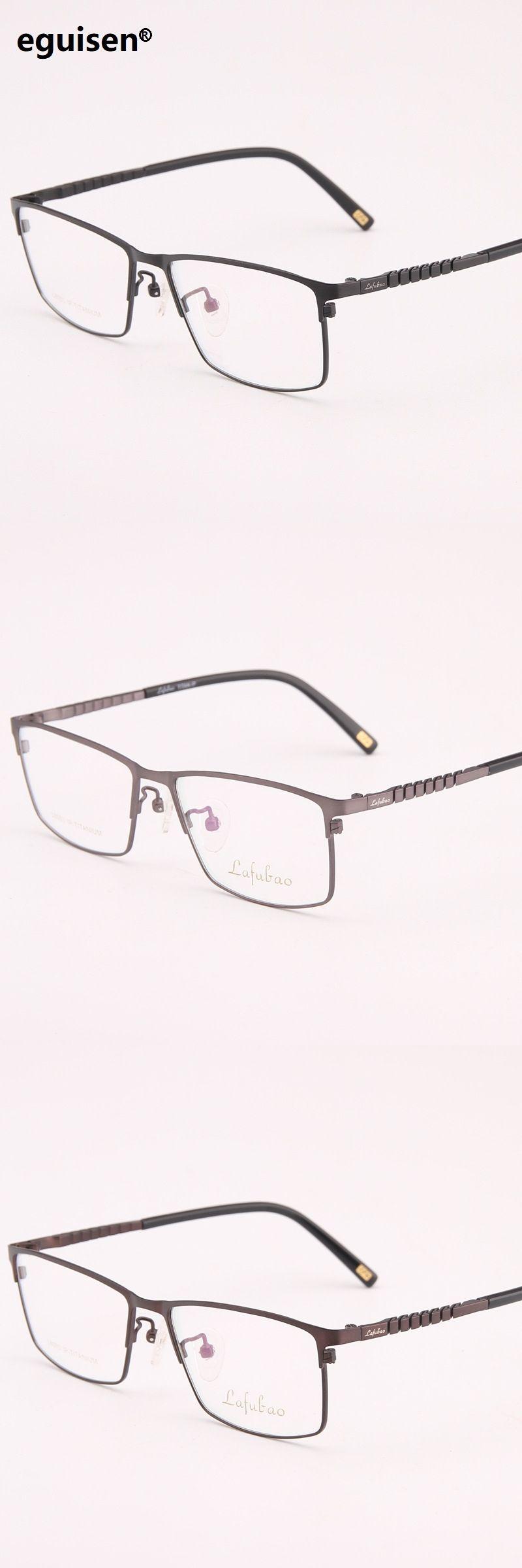 95b1e4c12be 54-16-135 Pure titanium super lightweight deformation business full frame  titanium plate eyerglasses