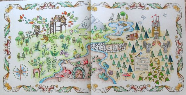 Enchanted Forest Coloring Book Map