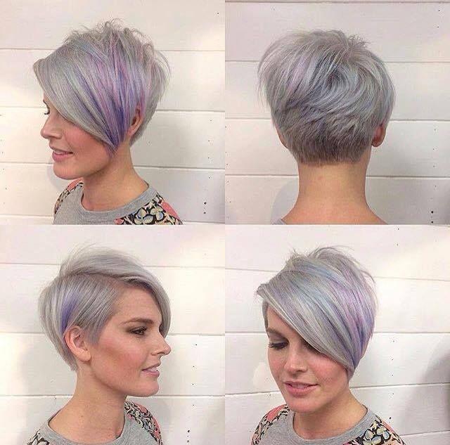 12 Wunderschone Frisuren Von Silber Bis Grau Die Trendfarbe Wirkt Total Cool Neue Frisur Kurzhaarfrisuren Haarschnitt Kurz Haarschnitt