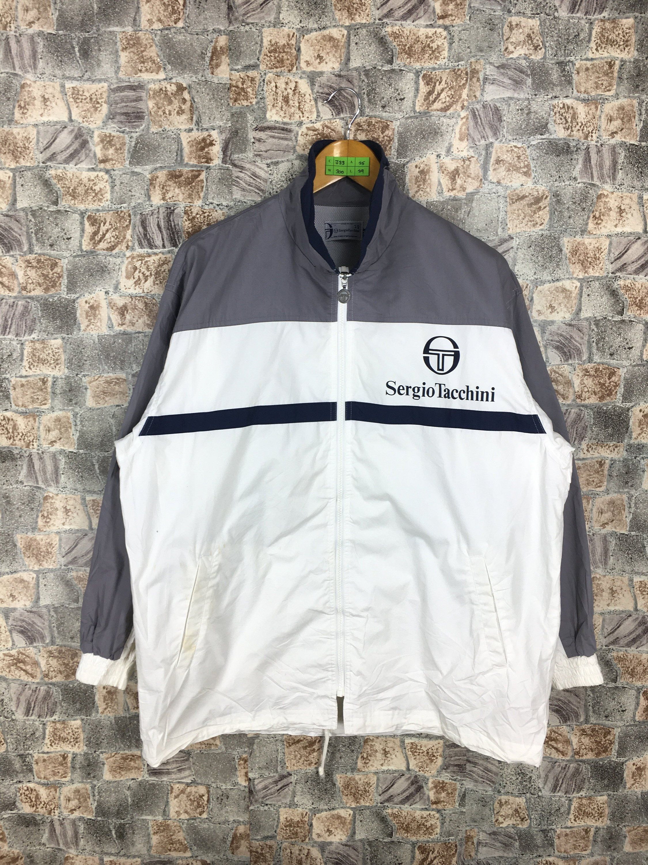 Vintage 90's Sergio Tacchini Windbreaker Jacket Medium
