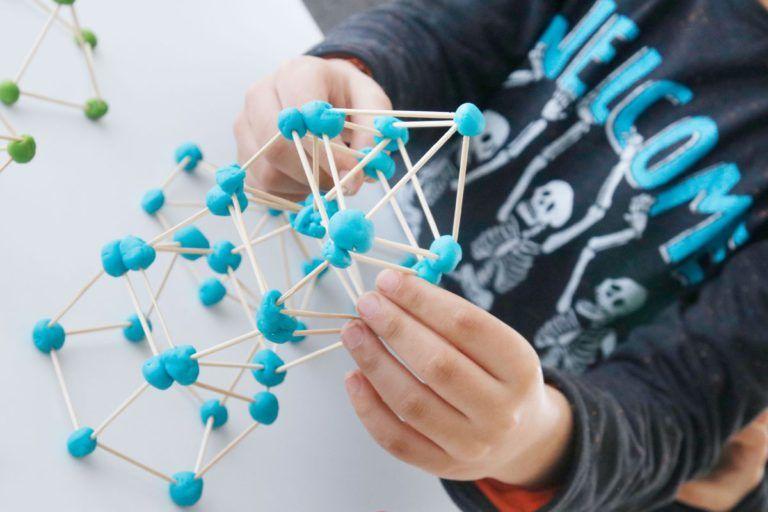 Estructura Con Plastilina Y Palillos Ensino De Matemática Geometria Matemática
