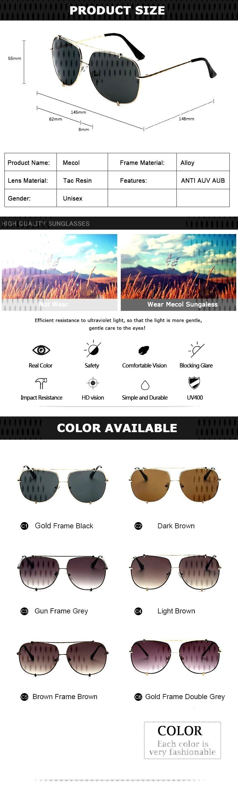 Nice 2017 Men Brand Designer Vintage Pilot Sun Glasses for Male Oversized Shades Retro Female Steam