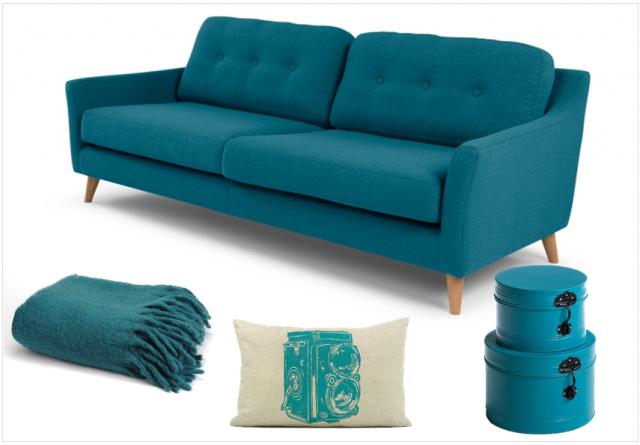 Une touche de bleu canard dans la déco | Salons, Small space ...