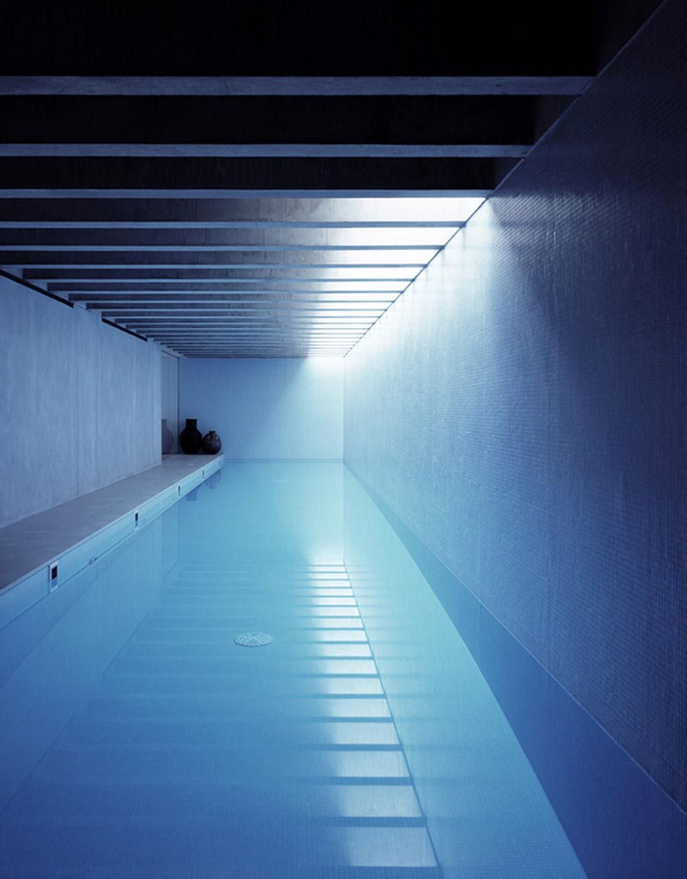 Indoor pool inside the long house in london by keith for Pool design london