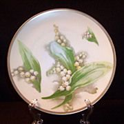 SOLD Victorian Royal Austria Porcelain Lily of the Valley Plate