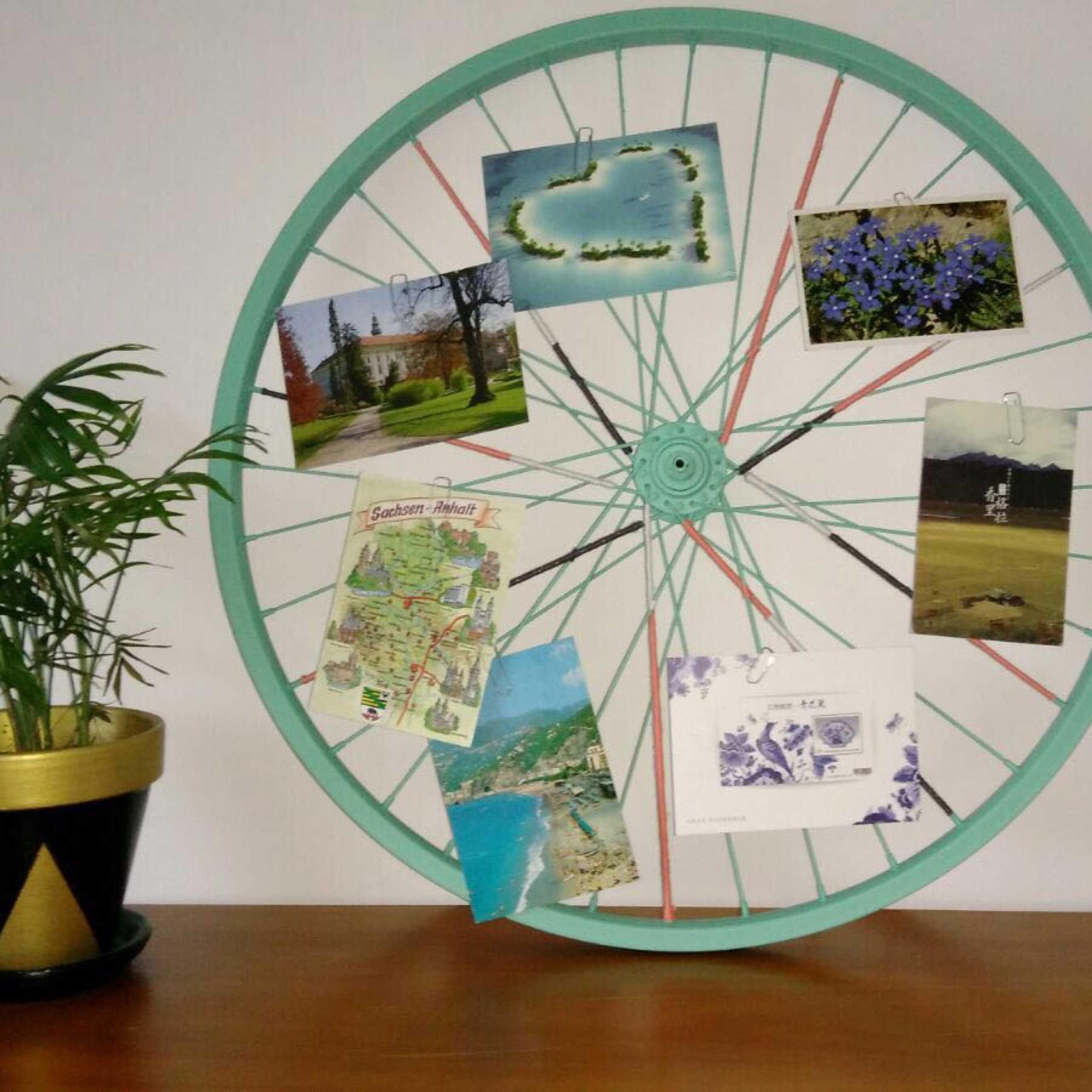 tutoriel diy transformer une roue de v lo en p le m le. Black Bedroom Furniture Sets. Home Design Ideas