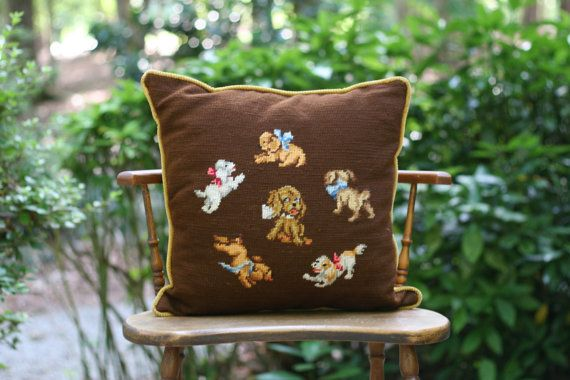 Hey, I found this really awesome Etsy listing at https://www.etsy.com/listing/225610312/large-vintage-playful-puppies