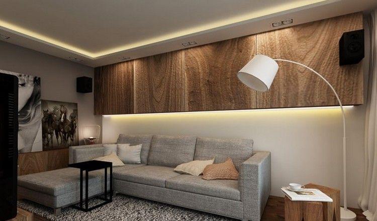 Wandgestaltung im Wohnzimmer – 85 Ideen und moderne ...