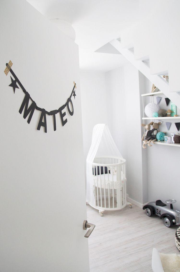 nursery inspiration grey mint habitacin beb infantil gris macarena gea