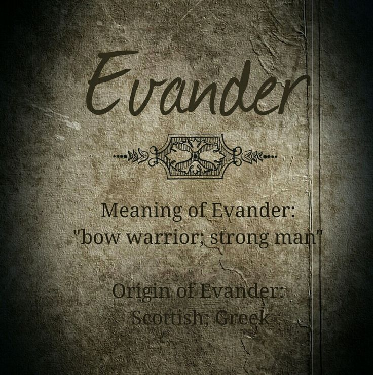 Character Name - Evander