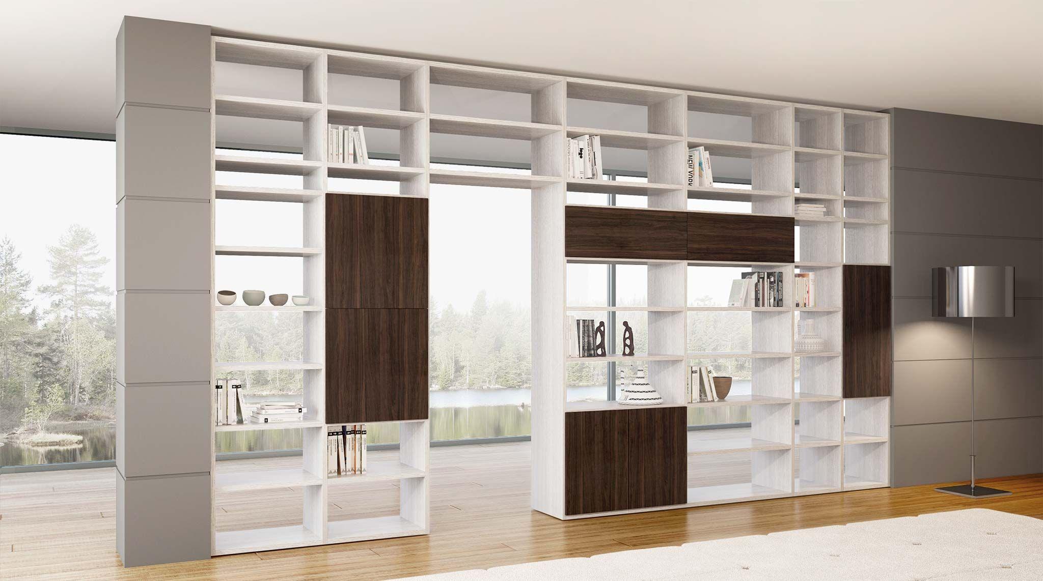 Libreria bifacciale componibile Systema-B | Salons