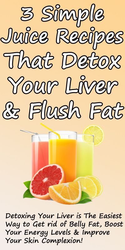 3 Simple Recipes for Detox Drinks - Flush Toxins from Your Liver Eliminate  Unwanted Fat.