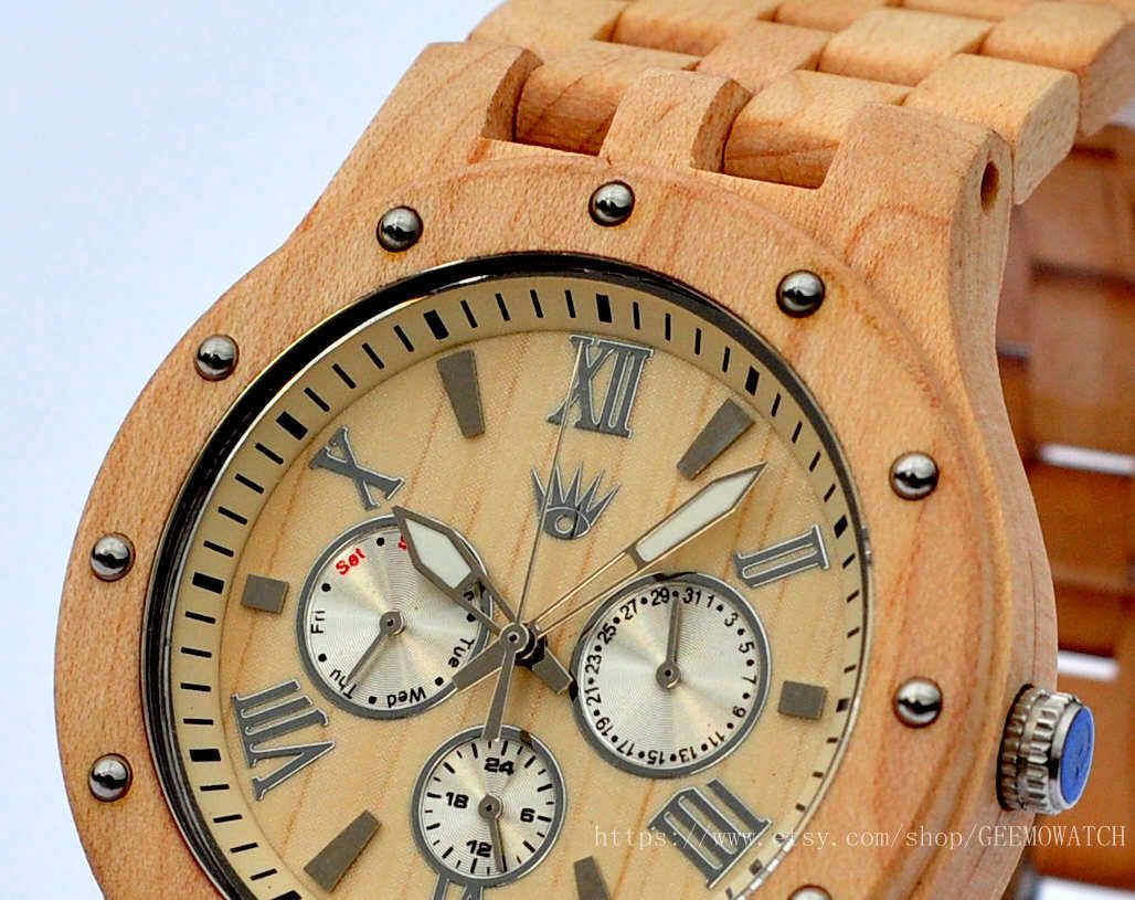 Personalized engraved wood watch, unique mens watch, wooden watch for mens, boyfriend watch, retro watches, Groomsmen Wedding Gift, engraved by GEEMOWATCH on Etsy https://www.etsy.com/listing/242382224/personalized-engraved-wood-watch-unique