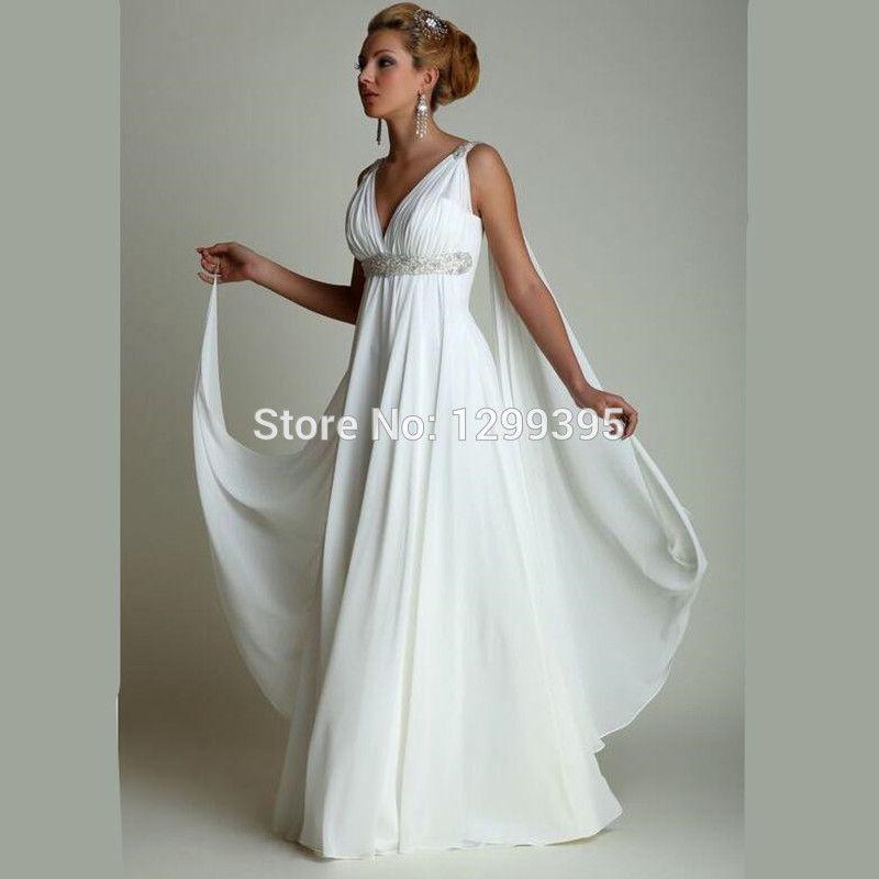Abiti da Sposa 2016 Greek Wedding Dress Suitable for Pregnant Women ...