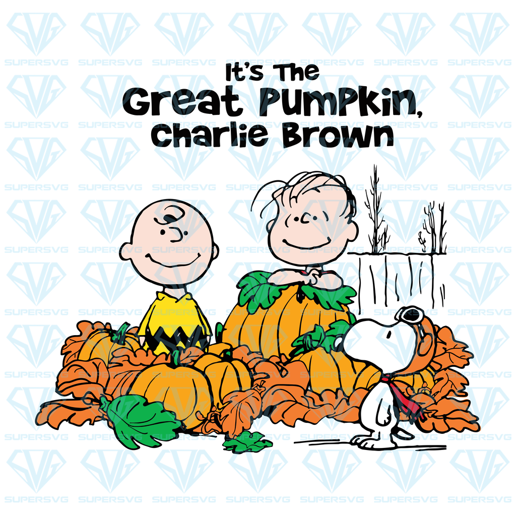 Its The Great Pumpkin Charlie Brown Svg Files For Silhouette Files For Cricut Svg Dxf Eps Png Instant Download Supersvg Great Pumpkin Charlie Brown Charlie Brown Halloween Greatful