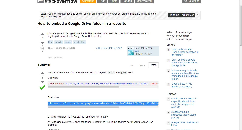 How to embed a Google Drive folder in a website Teacher