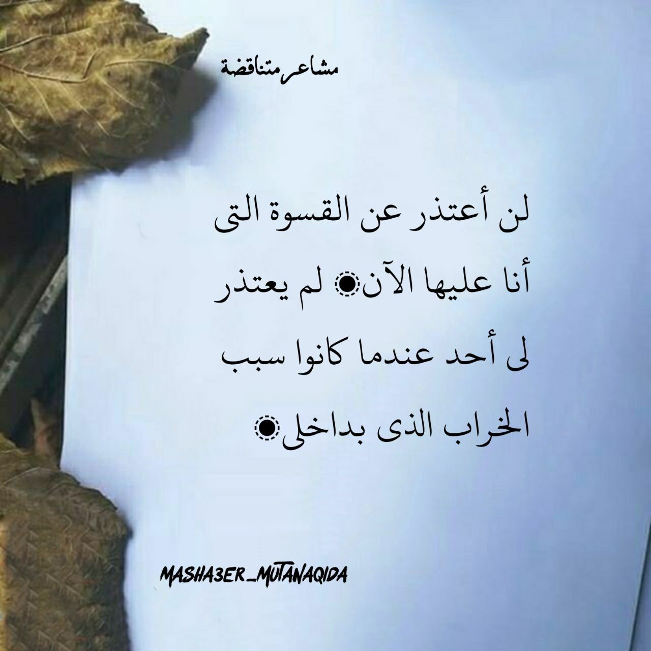 لن أعتذر Lins Arabic Calligraphy Calligraphy