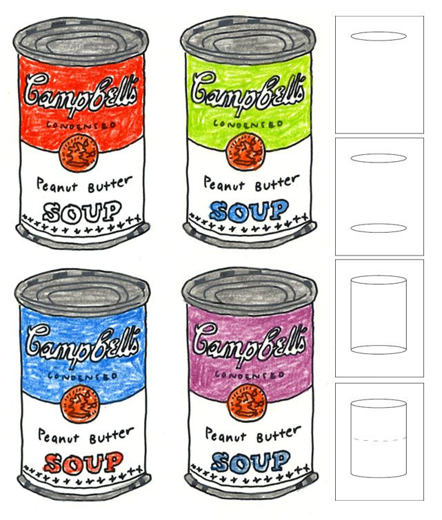 art projects for kids andy warhol soup cans art school pinterest kunstgeschichte kunst. Black Bedroom Furniture Sets. Home Design Ideas