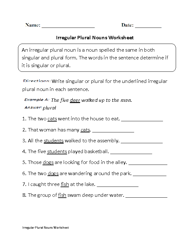 Irregular Plural Nouns Worksheet Part 1 Beginner Englishlinx