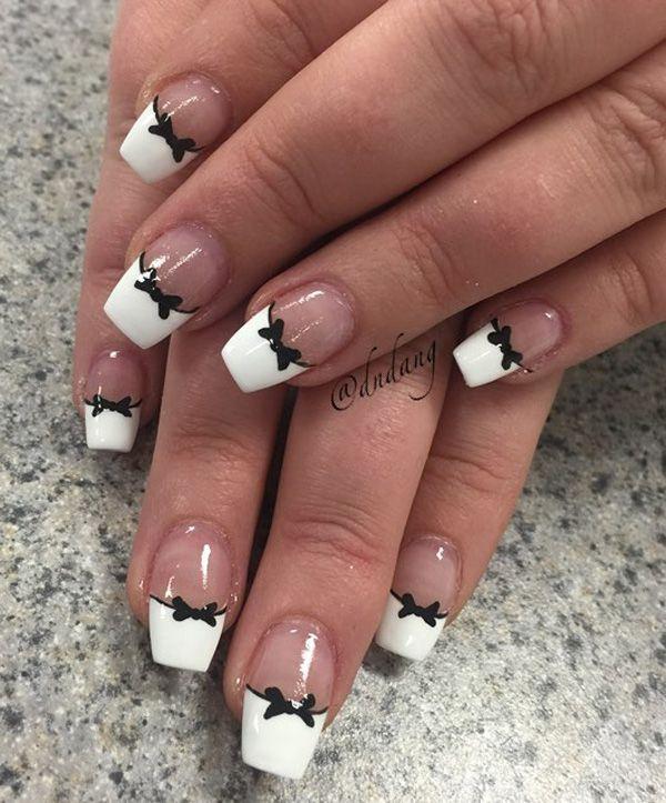 50 White Nail Art Ideas | White nail art, White nails and Pretty ...
