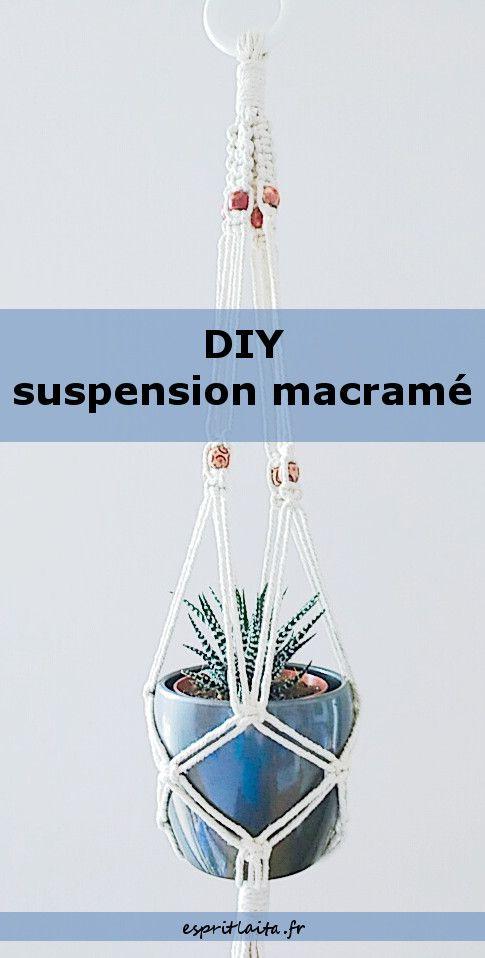 diy suspension macram maison cr ative pinterest. Black Bedroom Furniture Sets. Home Design Ideas