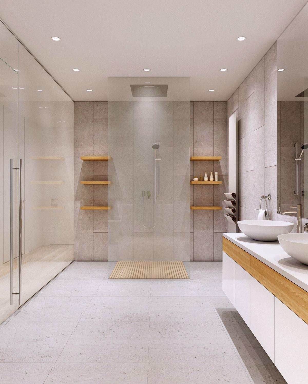 Elegant Bathroom Color Schemes: Luxury Bathroom Designs With Colorful Backsplash