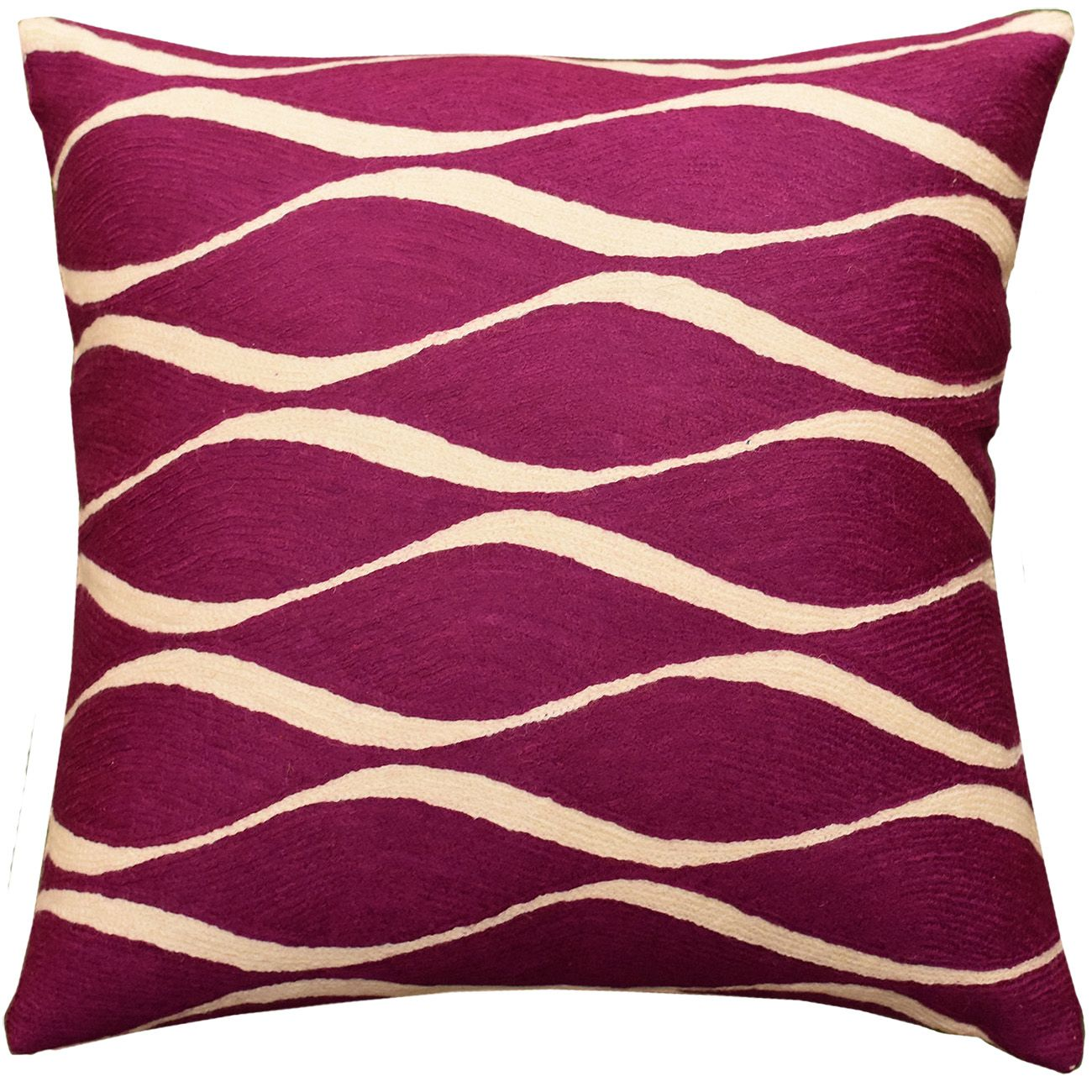 Contemporary Geometric Decorative Pillow Cover French Plum Seamless Vector Flow Modern Throw Pillows Cushions Accent Sofa Couch Cushion Abstract Wool