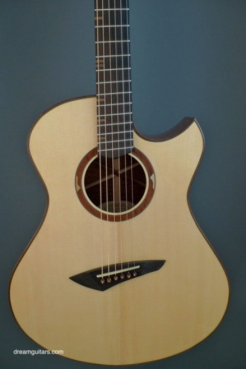 2006 Bashkin OM Placencia Figured Mahogany/Italian - Multiscale - Steel String Guitars - Guitars - Instruments