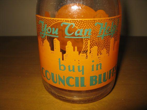 RARE Wartime quart milk bottle  Pinecrest Dairy  by oakiesclaptrap, $24.45