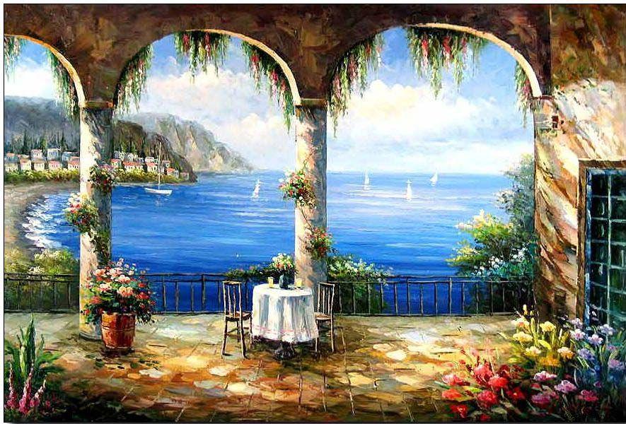 Mediterranean Sea Mediterranean Art Oil Painting Painting