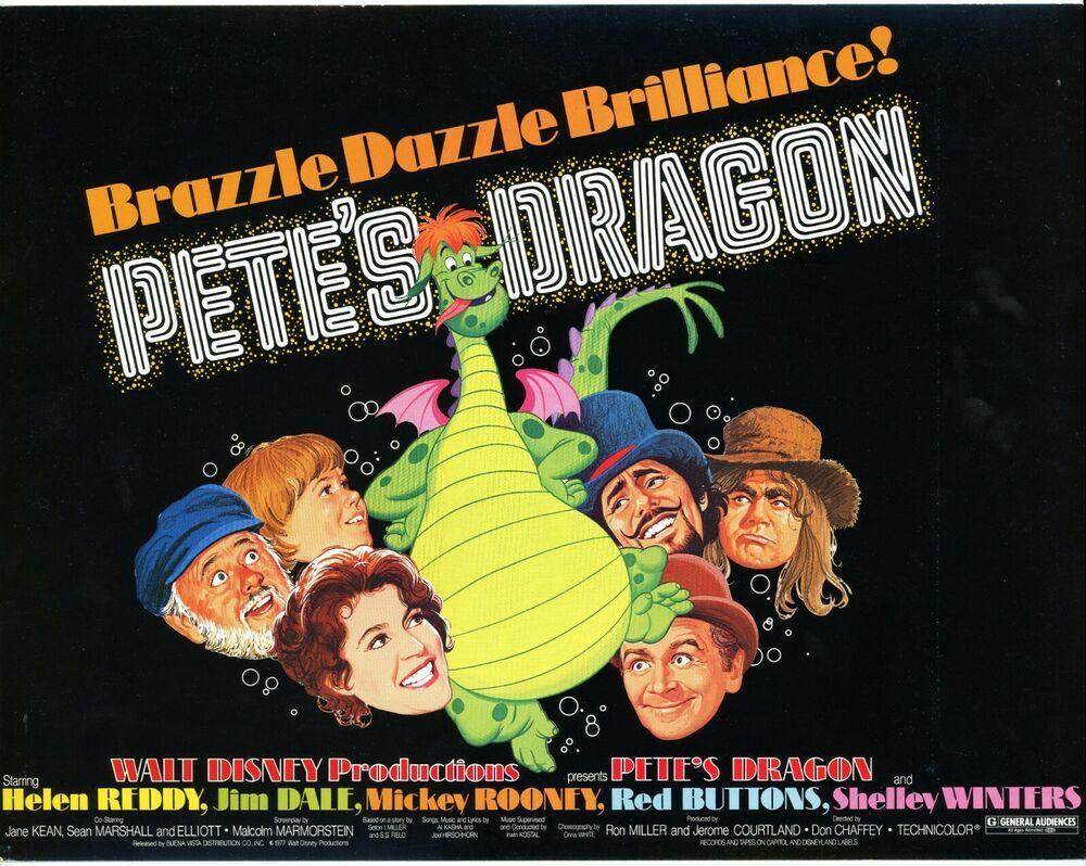 Pete's Dragon (1977) original movie title card - Walt Disney ...