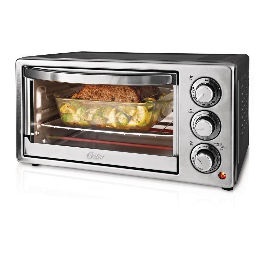 Oster 1300 W 6 Slice Stainless Steel Convection Toaster Oven