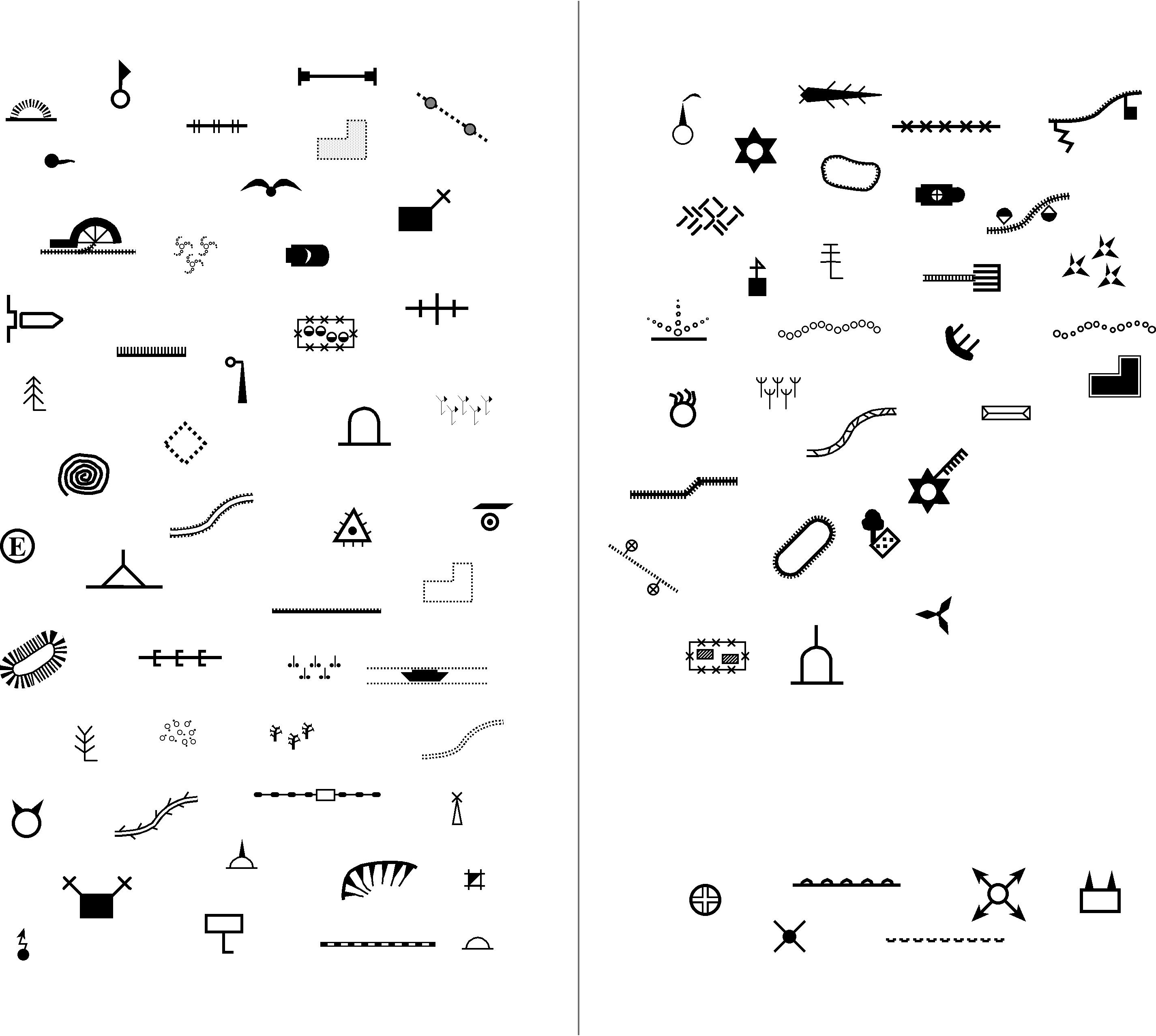 military symbols Map symbols, Map, Cartography