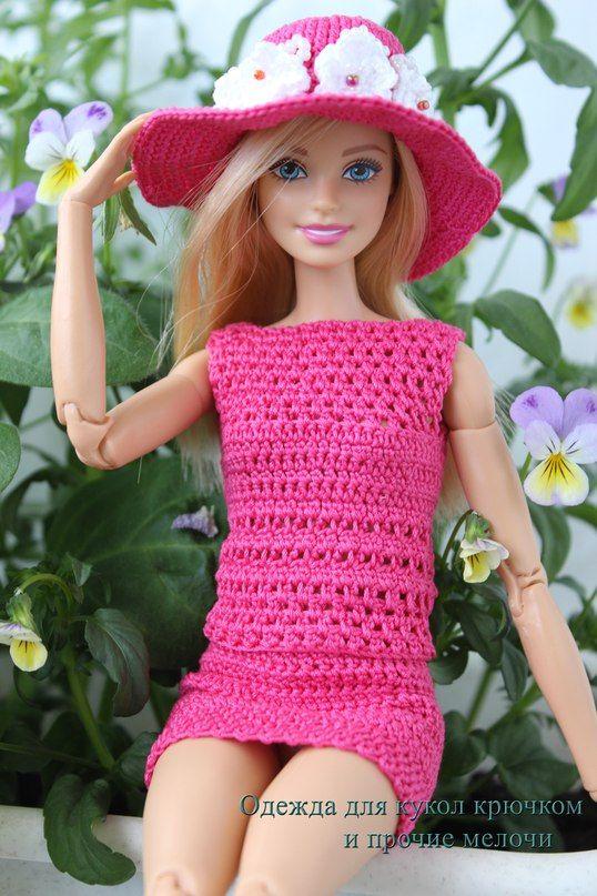Одежда для кукол крючком и прочие мелочи | Barbie mid-fitted ...