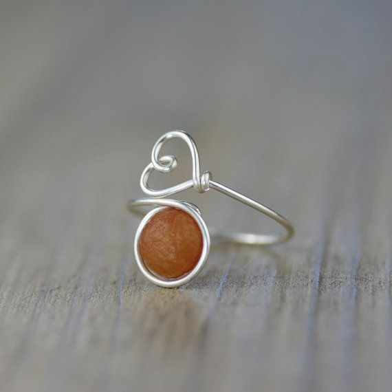 Sterling silver amazonlite stone ring  Free US by AnniDesignsllc
