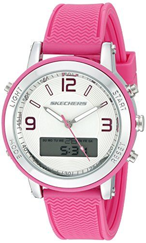 56c932f77 Skechers Women's SR6002 Analog-Digital Display Quartz Pink Watch ** Want to  know more, click on the image.