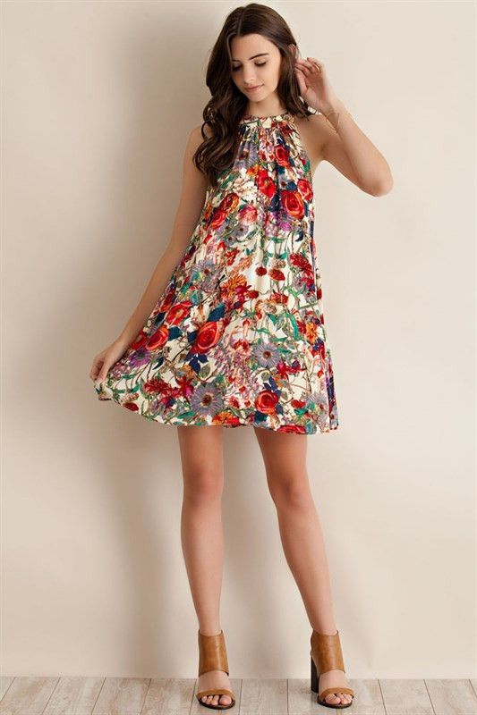 Take It To The Limit Floral Mock Neck Dress – The Laguna Room