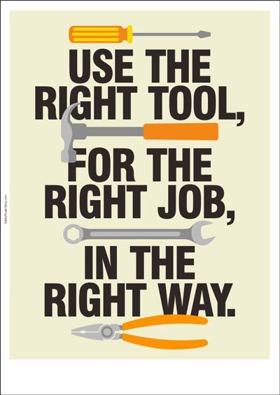 Right Tool Right Job Right Way Safety Elect