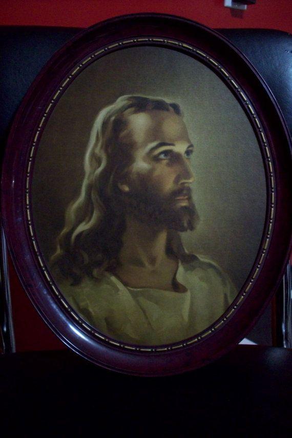 Religious Wall art/ Vintage framed by UpcycledCottageDecor on Etsy ...