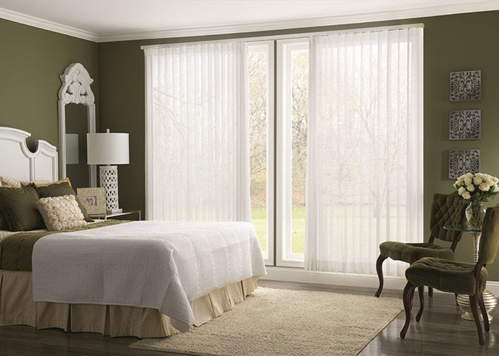 Vertical blinds provide the ideal solution for covering sliding