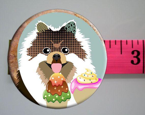 Pomeranian Fridge Magnet Pet Animal Unique Gifts by iQstudio