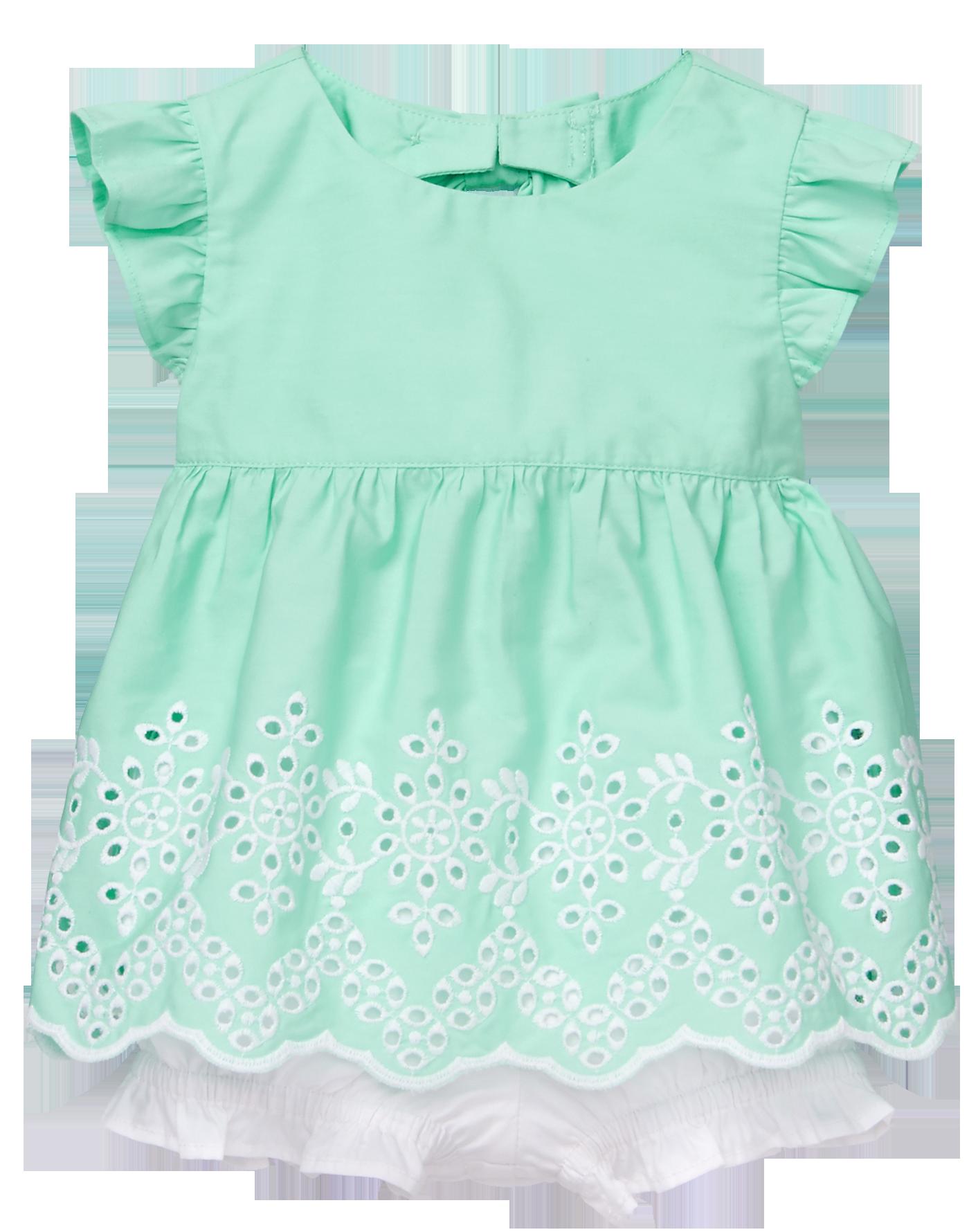 Gymboree Baby Girls One Shoulder Eyelet Dress