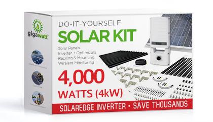 4000 Watt 4kw Diy Solar Install Kit W Solaredge Inverter Complete Grid Tie Systems Solar Panels Diy Solar Panel Solar Energy Panels