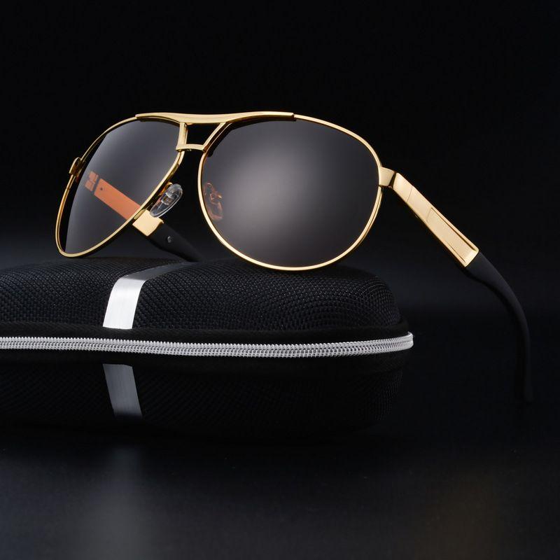 8184e0c8767 2017 New Big Metal Frame Goggle Glasses Mens Polarized Sun Glasses UV400  TAC Lens Classical Driver Mens Sunglasses Oculos Gafas