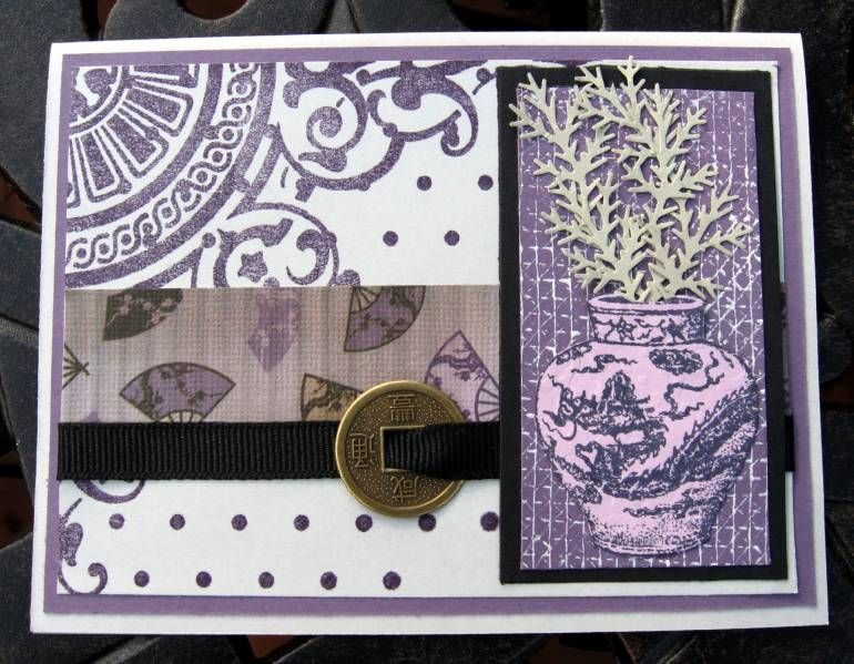 Asian Scrap with Grid | Paper crafts, Cards, Crafts